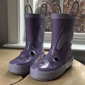 ☔️ Cat & Jack bunny rain boots size 7/8 ☔️